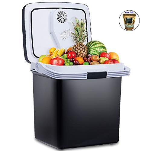 COSTWAY 26L Portable Electric Cooler Fridge Food Warmer Digital Plug In Refrigerator Black + FREE E - Book Only By eight24hours