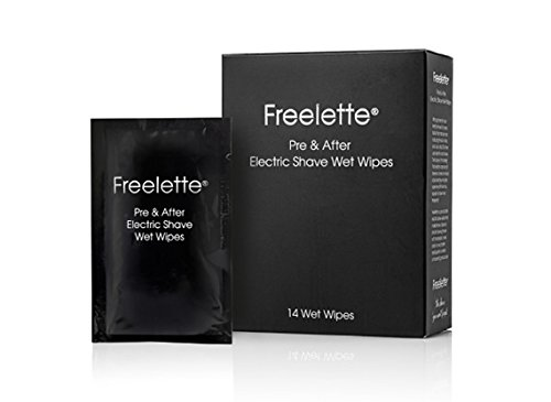 Pre-Shave Lotion Cream Best For Electric Shave FREELETTE After Shave Balm. Close Shave. 14 Wet Wipes (Pre Solution Shave)