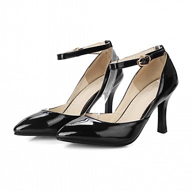 Le donne eleganti sandali SEXY DONNA PRIMAVERA tacchi cadono Comfort similpelle Office & Carriera Abito casual Stiletto Heel fibbia viola nero oro bianco , nero , us6 / EU38 / UK5 big kids