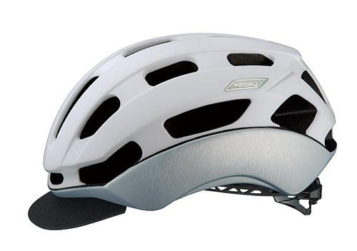 OGK KABUTO(オージーケーカブト) ヘルメット BC-Glosbe2 マットホワイトヘアライン L/XL (頭囲:59cm-61cm)