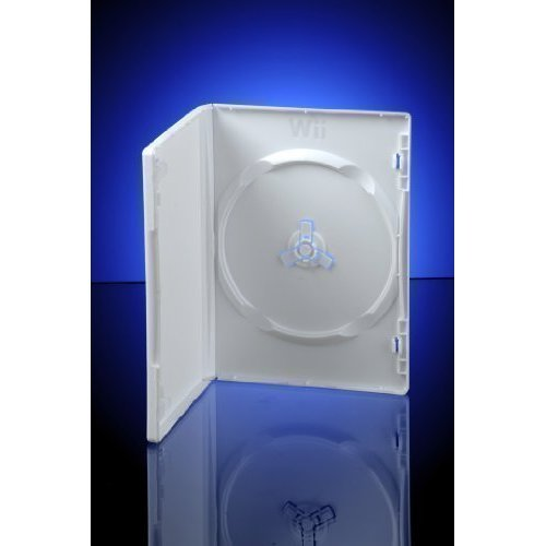 White Wii DVD Storage Cases sleeve 14mm ~ replacement cases for Nintendo Wii Games / Discs by CDL Micro