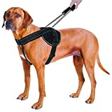 Quick Control Pet Dog Training Harness No Pull Reflective Dog Harness Vest For Medium Large Dogs Black L