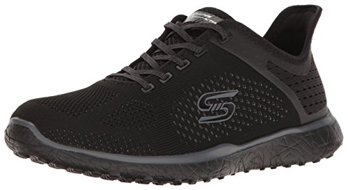 Skechers Sport Womens Microburst Supersonic Fashion Sneaker, Black, 5.5 M US