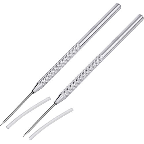 Outus Clay Needle Tools Ceramic Detail Tools Pottery Sculpture Needle Detail Tools, 2 Pack