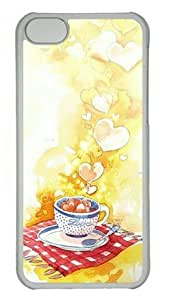 Coffee Full of Love Iphone 4s Transparent Sides Hard Shell PC Case by Sakuraelieechyan