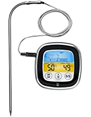 WMF BBQ digitale thermometer, vleesthermometer, braadthermometer, grillthermometer met 5 gaarstanden, LED-touchdisplay, timer, magneethouder