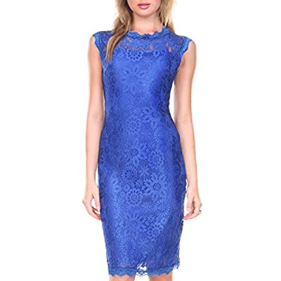 Stanzino Lace Dresses for Women - Womens Sleeveless Cocktail Dress for Special Occasions