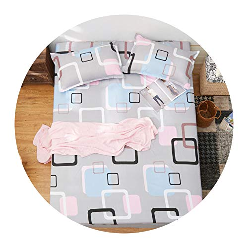 Colorful-cookie-bedspread-sets 3 pcs Bed Set Bed Sheet Printed Sheet with Elastic Band Mattress Cover Fitted Sheet with Rubber Band+2 Pillowcase,040,180cm200cm