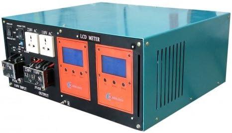 wccsolar.es Inverter 10000W LF Inversor De Onda Pura del Seno LCD+Cargador 200A 24V/48V A 230V (10000W 24V)