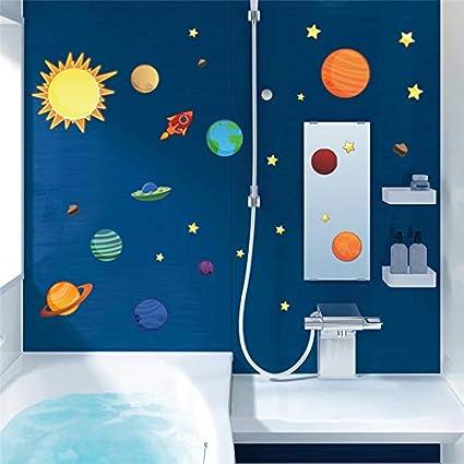 GJGFNJ Sistema Solar Pegatinas De Pared para Habitaciones De Niños ...
