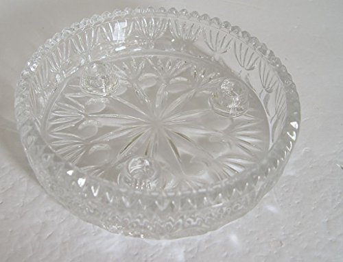 Lead Crystal Princess House By Fostoria 3 Taper Candle Holder 6 1/4
