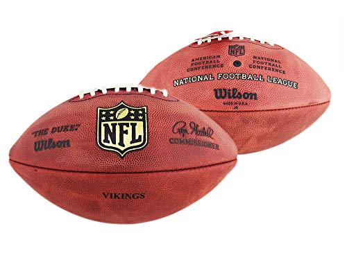 Vikings Lighting Minnesota - Minnesota Vikings Stamped Authentic Wilson NFL Game Football