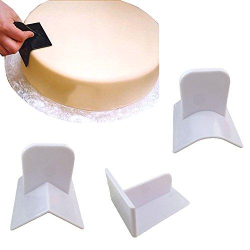 NALATI Kocheinheit Werkzeuge, Glätter Kuchen Fondant Tortendecko Modellierwerkze Marzipan, reinigen Sie die Kuchenbacken Werkzeugoberfläche Kuchen Vorrichtung 3 / lot Oberfläche Kuchen flach Patene Biege