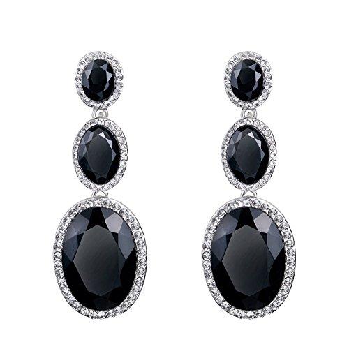 [ER-06107C3 Chain Crystal Earrings Women Earring] (Guys Hip Hop Dance Costumes)