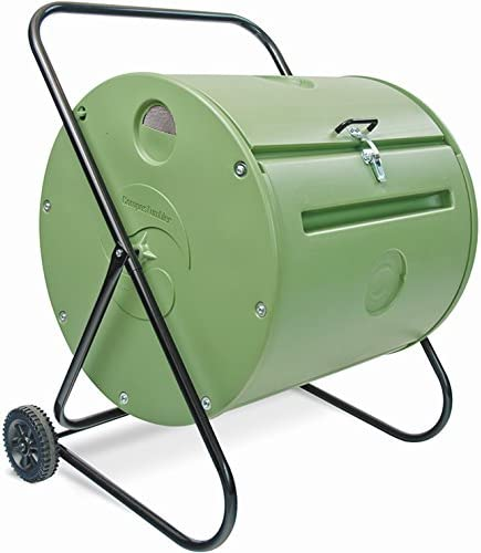 Petit-Compostador de jardín giratoria 140 L-Compostador Mantis ...