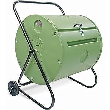 Petit-Compostador de jardín giratoria 140 L-Compostador ...