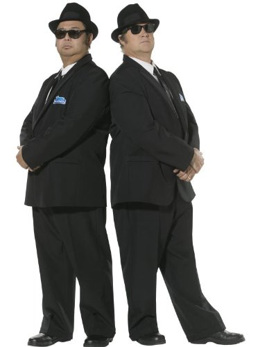 Smiffy's Men's Blues Brothers Costume, Suit Jacket & Trousers, Size: M, - Suit Blues Brothers
