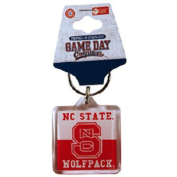 NCAA North Carolina State Wolfpack Lucite Logo (North Carolina State Wolfpack Keychain)