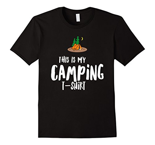 Mens Camping is my Happy Place, camping checklist t shirt Medium - Check Camping List