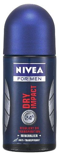 Nivea Dry Impact Deodorant Roll-On, 1.7 Fluid Ounce (Pack of 2)