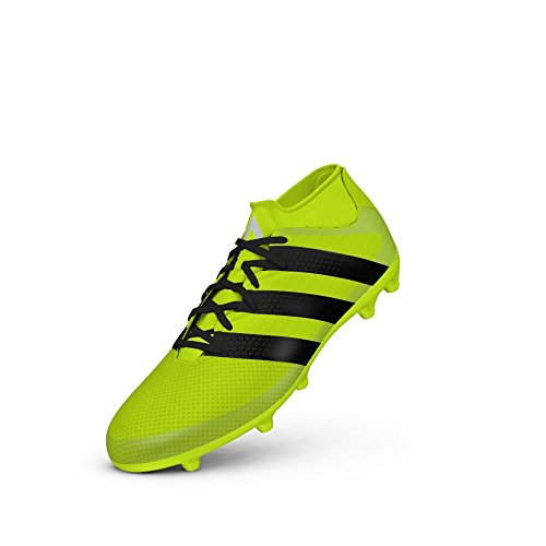 adidas Performance Men's Ace 16.3 Primemesh FG/AG Soccer Shoe, Solar Yellow/Black/Metallic Silver, 8.5 M US - Football Shoes Ag