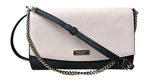 Kate Spade New York Laurel Way Greer Crossbody Handbag Clutch (Warm Beige Black)