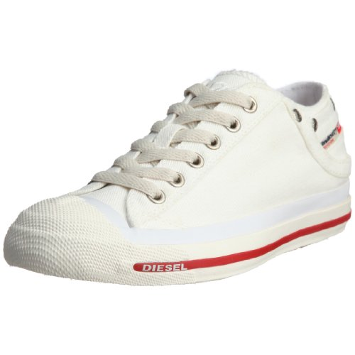 (Diesel Women's Exposure Low Sneaker,Snow/White,8.5 M)
