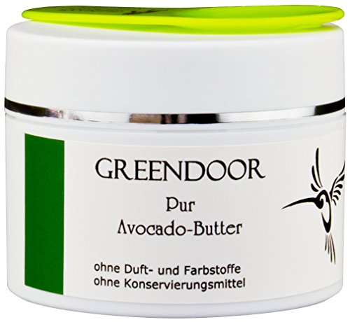 PUR Avocadobutter - 100 ml, 100% rein, nur physikalisch raffiniert, vegan, aus der Naturkosmetik Manufaktur, Avocado Butter inklusive Kosmetikspatel