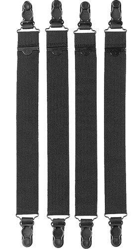 Vanguard Shirt Garter 2 Pair Original New Black Military Issue Heavy Duty (Shirt Stays)