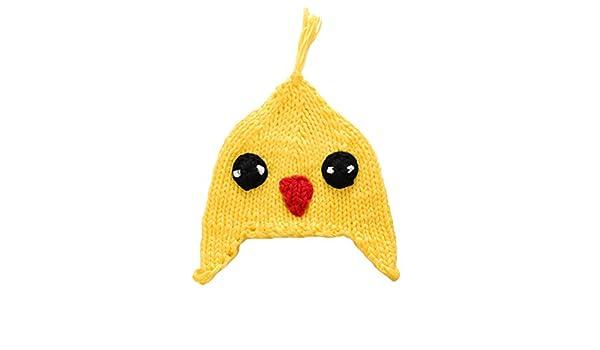 YeahiBaby Sombrero de Punto de Ganchillo de Pollo Amarillo para ...