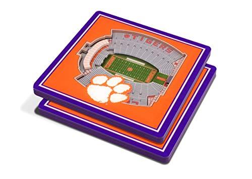 NCAA Clemson Tigers 3D StadiumViews Coasters