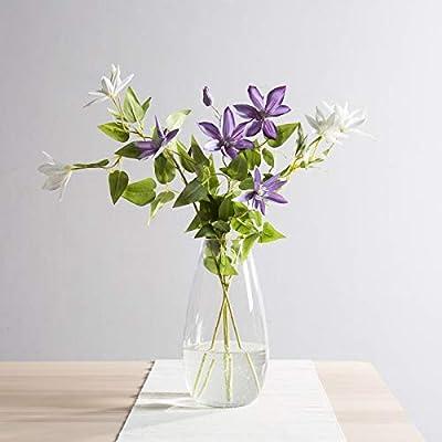 CASAMOTION Vases Hand Blown Art Glass Vase, Oxygen Bubbles Seeded Centerpiece Vases for Flower Arrangement