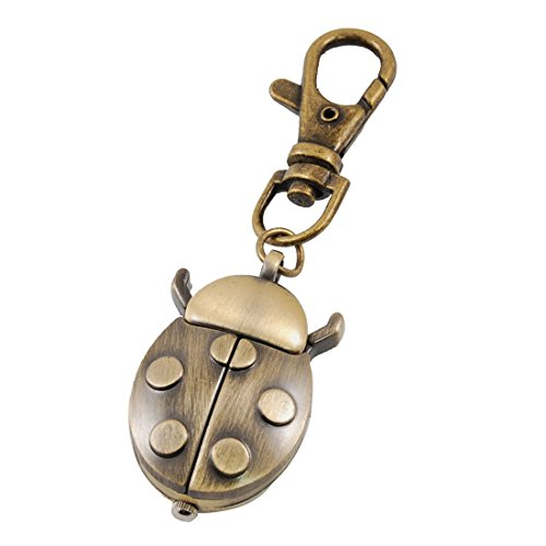 TOOGOO (R) Bronze Tone Metal Ladybird Shape Pendant Key Ring Watch