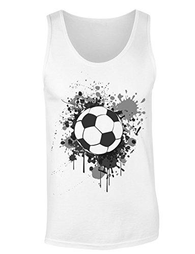 Soccer Ball Spraying Colors T-shirt senza maniche per Donne Shirt