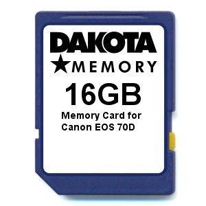 Tarjeta de Memoria de 16 GB para Canon EOS 70D.: Amazon.es ...