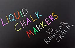 Fluorescent Liquid Chalk Markers (10 Pack) By Kassa - Child Safe (Non-Toxic) - 2 Tip Sizes (6 and 4 mm) Chalkboard Paint Markers - Erasable Ink for Chalk Board (Nonporous), Glass and Windows