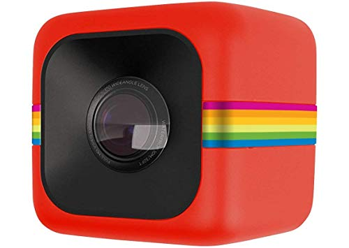 (Polaroid Cube Act II HD 1080P Mountable Weather-Resistant Lifestyle Action Video Camera (Red) 6MP Still Camera w/ Image Stabilization, Sound Recording, Low Light Capability & Other Updated Feature)