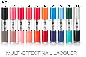 Kiko Multi-Effect Nail Lacquer Nail Polish Nagellack Nr. 10 Farbe: Schwarz / Transparent mit Glanz Effektlack Top Coat Inhalt: 2x 4ml Nagellack für schöne Nägel.
