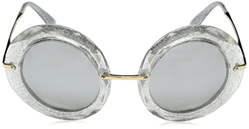 Sonnenbrille Glitter Lightgreymirrorsilver Crystal Argenté Silver DG6105 Dolce Gabbana amp; wREYqWvO