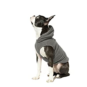 Gooby – Fleece Vest Hoodie, Small Dog Pull Over Hooded Fleece Jacket with Leash Ring, Gray, Small Click on image for further info.