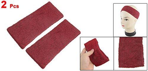 Amazon.com : eDealMax Tela de toalla al aire Libre Correr elástico Banda de sudor diadema Banda Para el Cabello 2 Pcs Rojo Oscuro : Sports & Outdoors