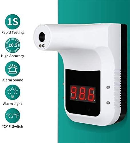 Newooh Thermometer Berührungslos Hängendes Infrarot Thermometer Für Büros Geschäfte Schulen Hotel Restaurant Automatische Körpertemperaturmessung Küche Haushalt