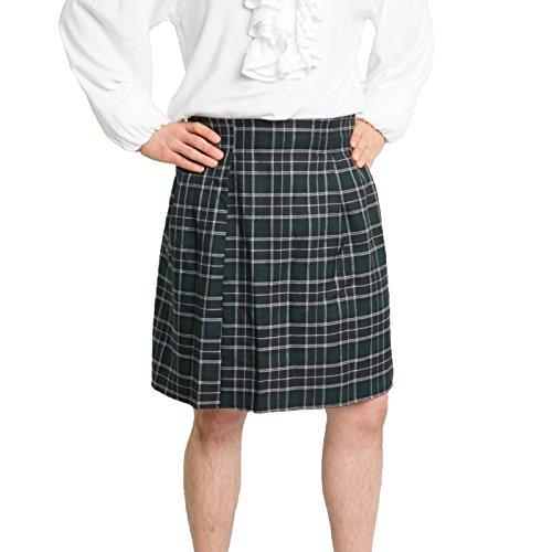 Largemouth Men's Scottish Kilt Costume (Standard (30-38 in. Waist), Black Watch)