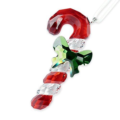 Swarovski Candy Cane Ornament - Ornaments Tree Crystal Christmas