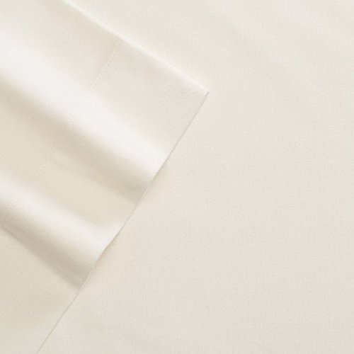 Cuddl Duds Queen Flannel Sheet with Deep Pockets, 4-Pieces - Ivory - Ivory Flannel Fitted Sheet