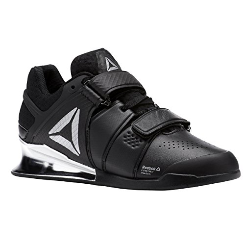 Reebok Women's Legacy Lifter Sneaker, Black/White/Silver, 7 M US by Reebok