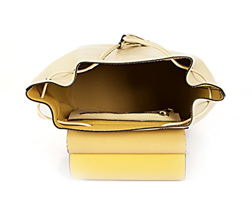 Paola Prata - Bolso mochila  de Piel para mujer Beige beige