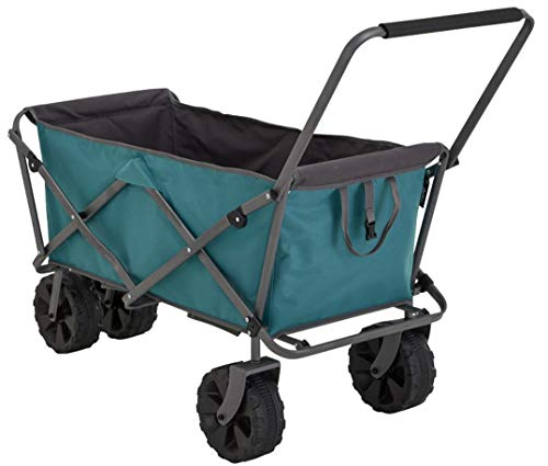 Uquip Beach Cart Buddy XL, Big Wheels for Sand, Heavy Duty Steel Frame, 220 lbs
