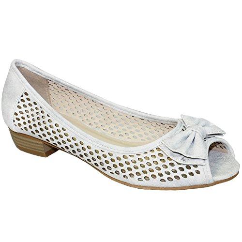 Boutique Zafiro Tacón Gris Manoletinas Bajo Abierta Sandalias Mujer Flc106 Punta Acolchada Plantilla Zapatos Kane Ii gFBqFwdcUn