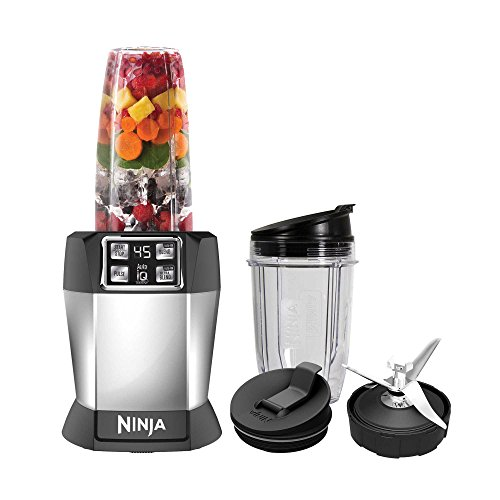 Ninja Auto-iQ Nutri Ninja Blender, Platinum | BL480 (Certified Refurbished)